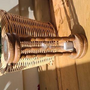 Vintage wooden sand timer